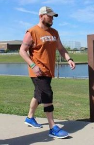 Man with lower extremity orthotics, for orthotics in Dallas, TX, Fort Worth, TX, pediatric orthotics and more, call Baker O&P, today.